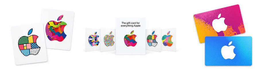 Apple gift cards for Christmas