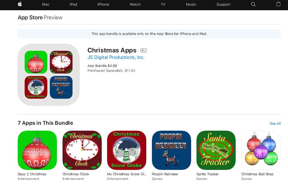 Virtual Christmas apps