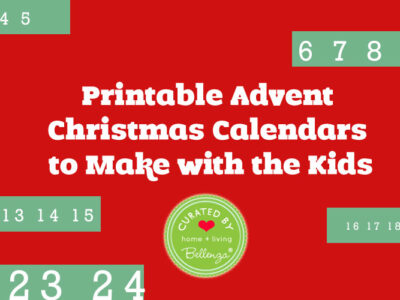 Printable Advent Christmas Calendars to Make with the Kids