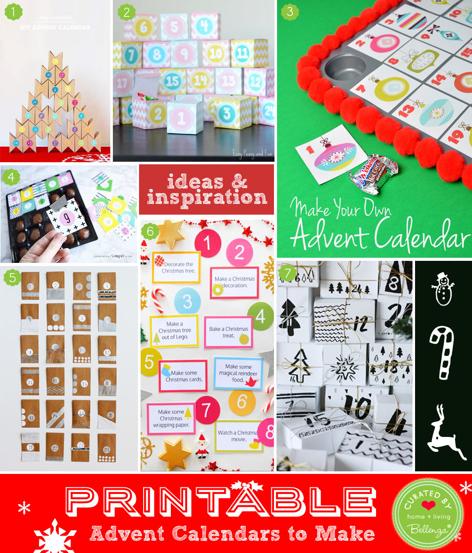 7 Creative Advent Calendars to Print and Make at Home