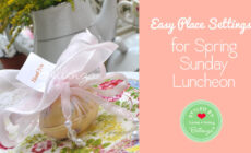 Spring Place Settings