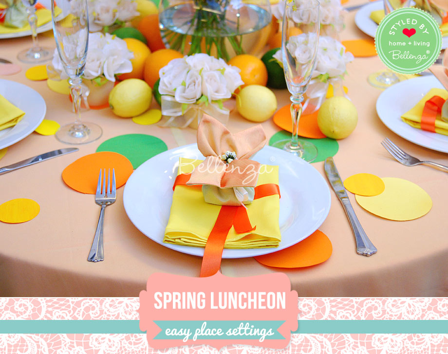 Spring place settings for Sunday luncheon