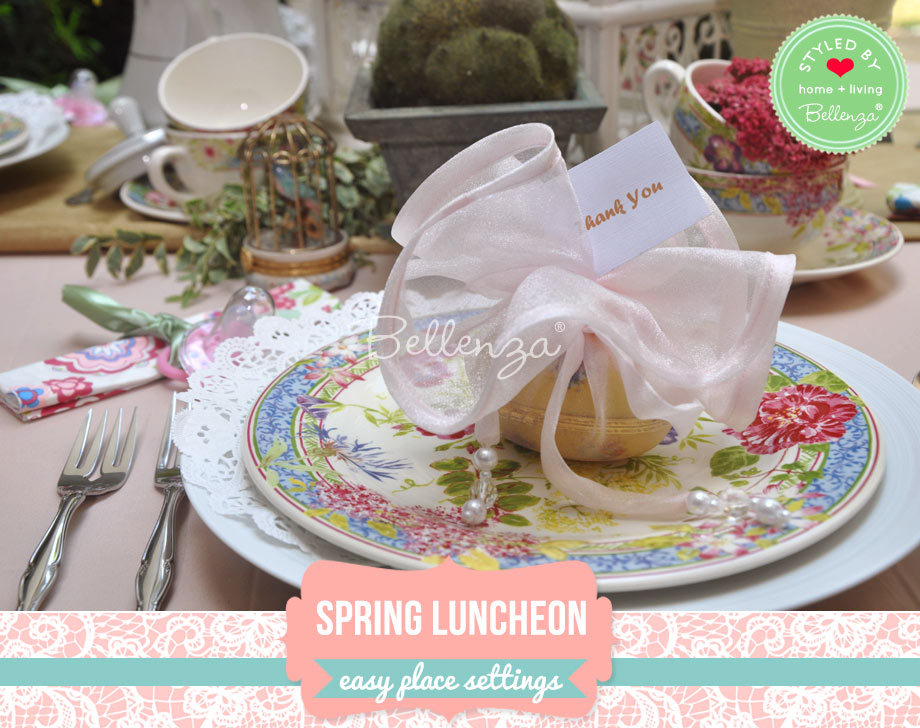 Spring florals place settings