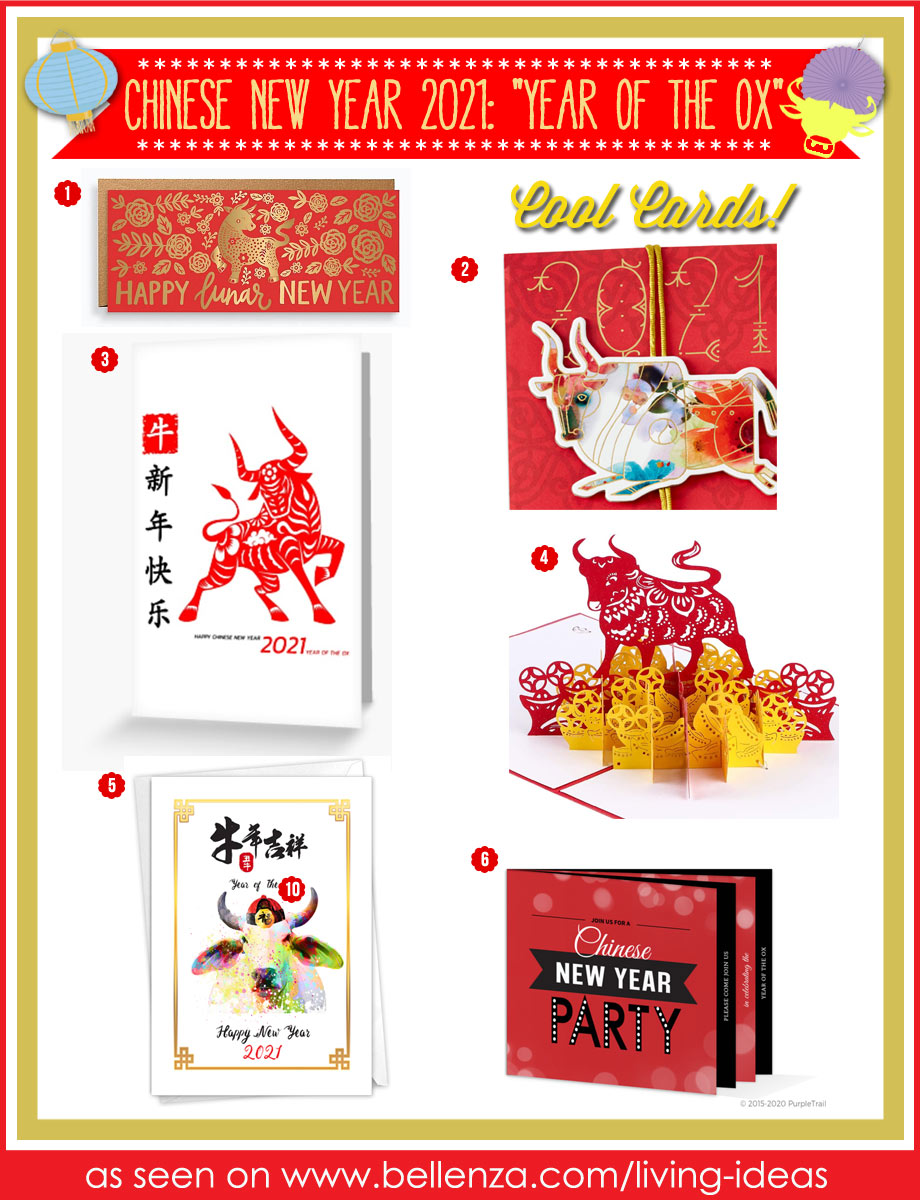 Year of the Ox New Year's  Cards