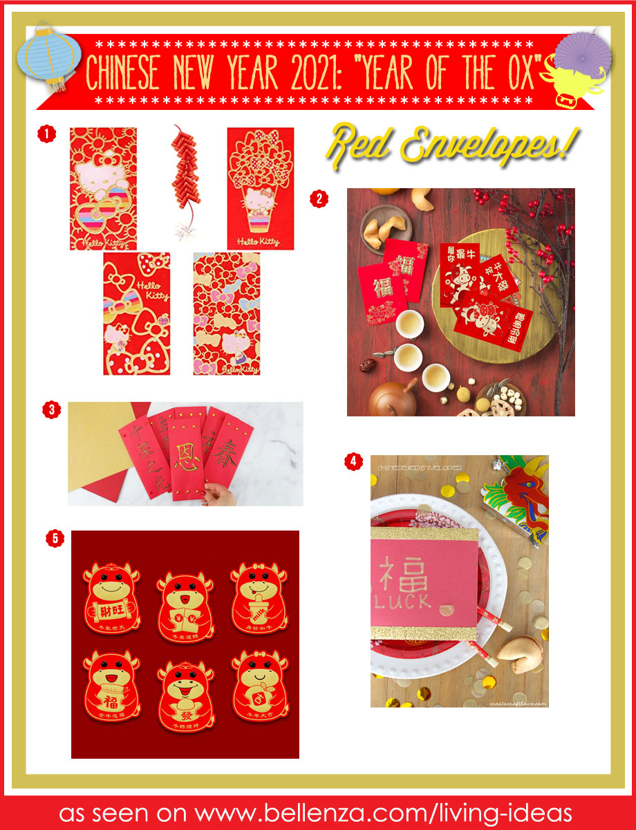 Year of the Ox New Year's Red Envelopes