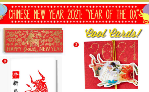 Year of the Ox New Year's Greeting Cards