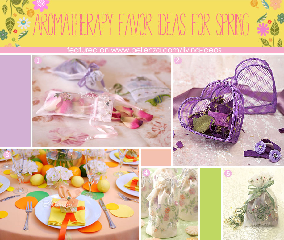 Aromatherapy Spring-inspired Favor Packaging