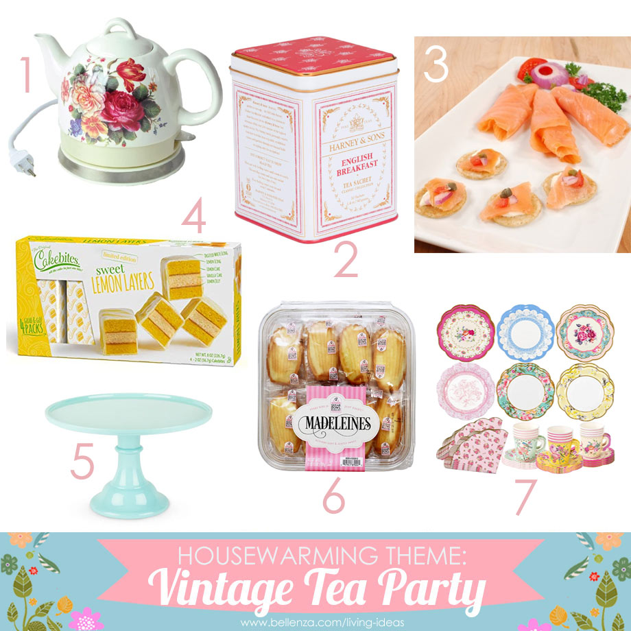 Vintage housewarming tea party basics and essentials