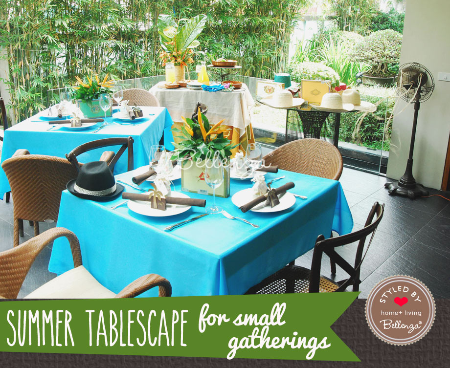 Cuban Nights Tablescapes for Small Summer