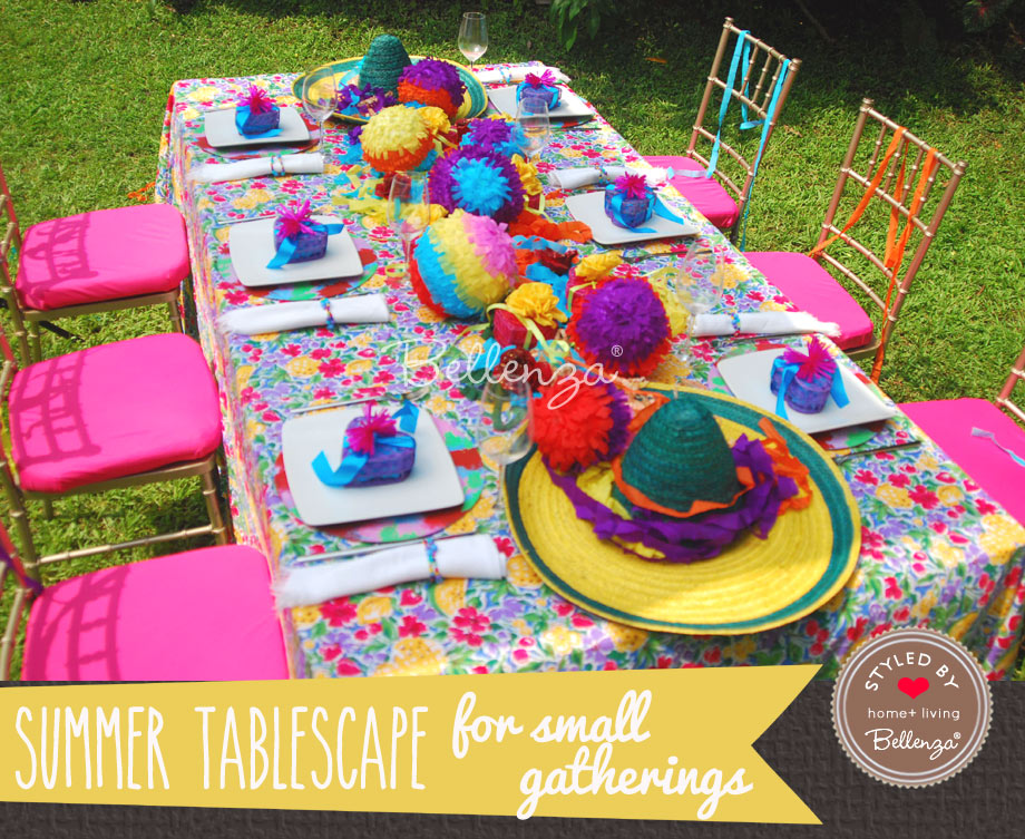 Mexican Fiesta tablesetting for small summer party
