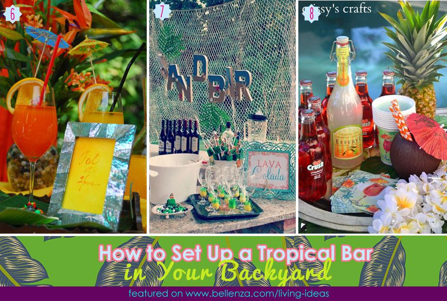Easy tropical bar essentials