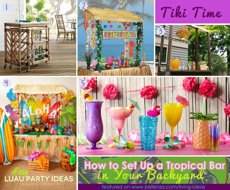 Tropical Bar Ideas for Backyard