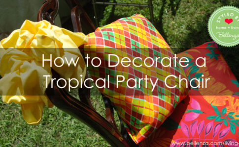 decorating tropical party chairs