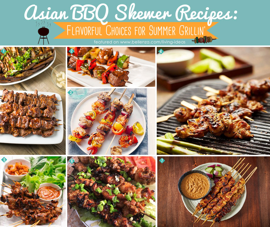 Asian BBQ Skewer Recipes for a An Asian BBQ Party