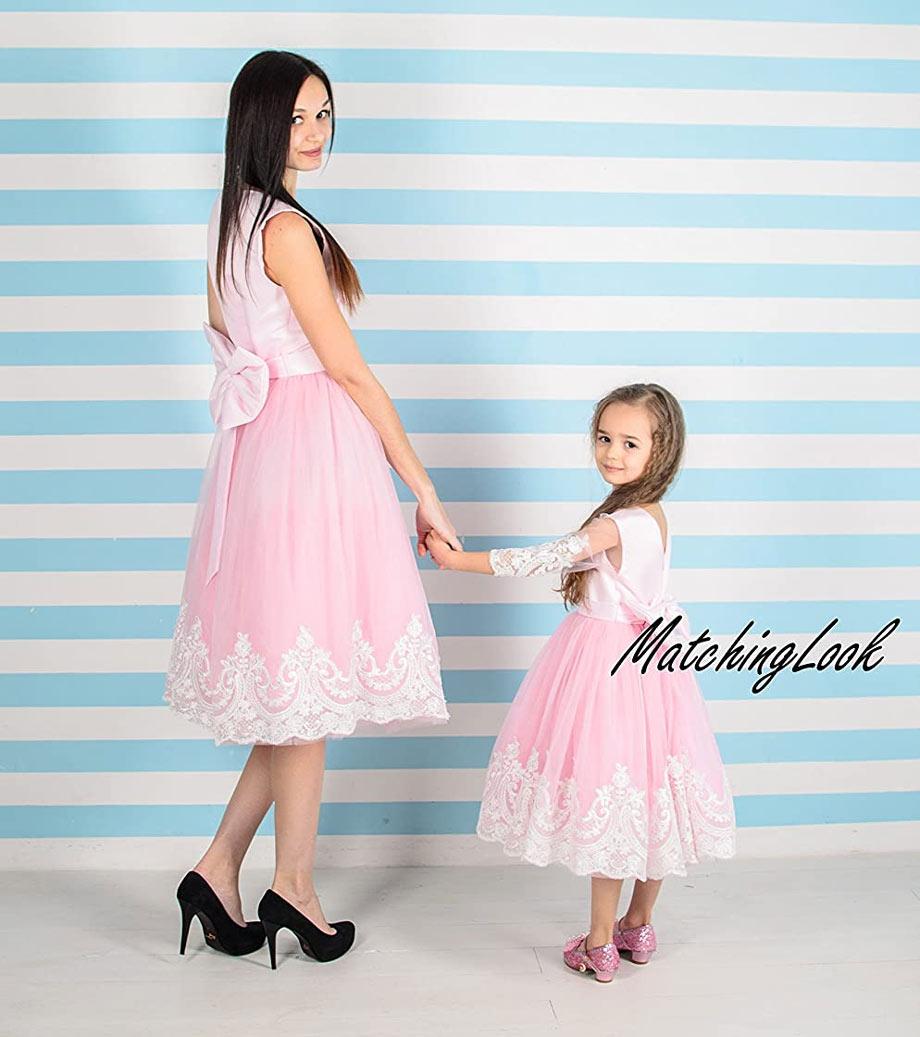 Matching pink tutu dress
