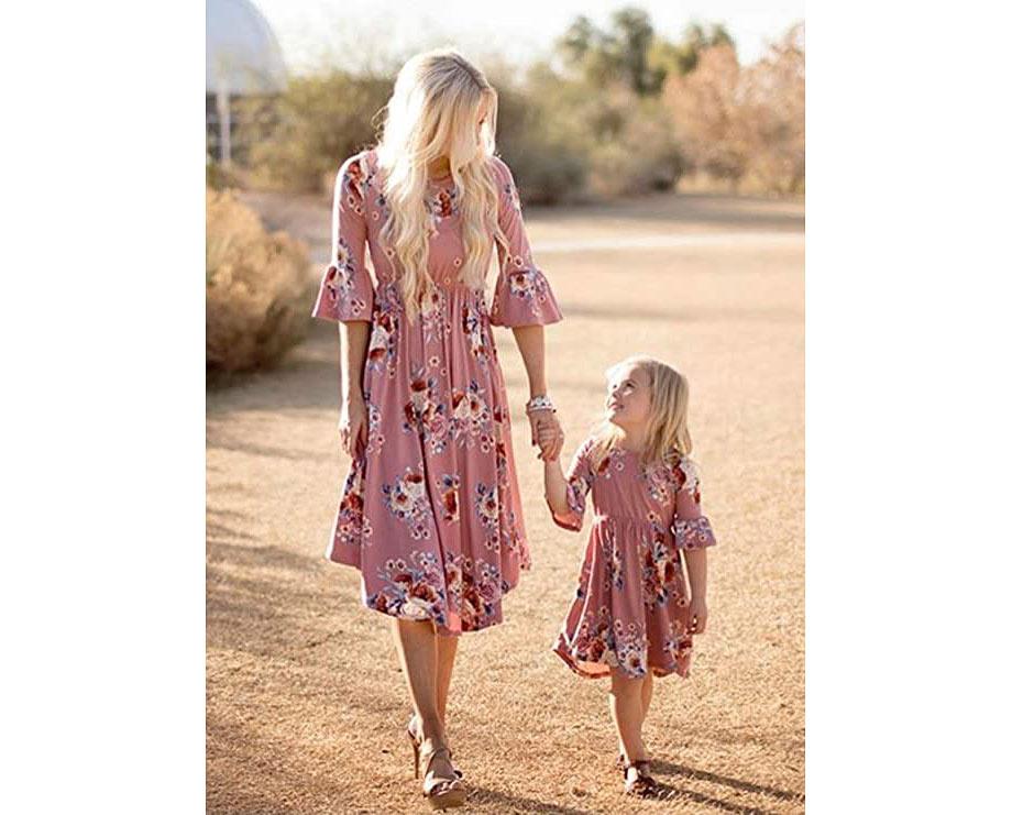 Mauve floral dresses
