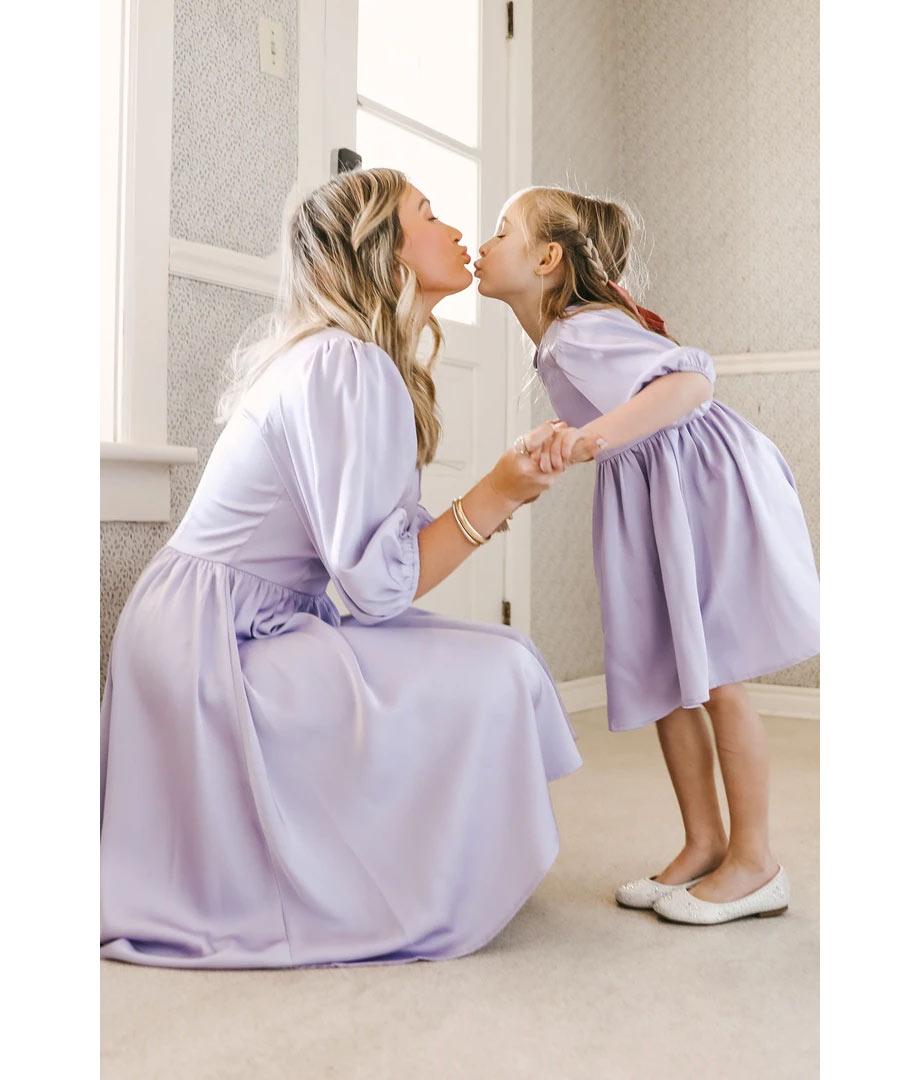 Lilac matching dresses
