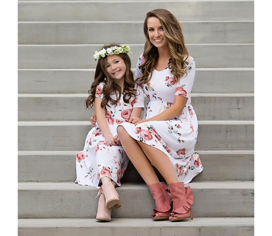 Midi length floral dresses