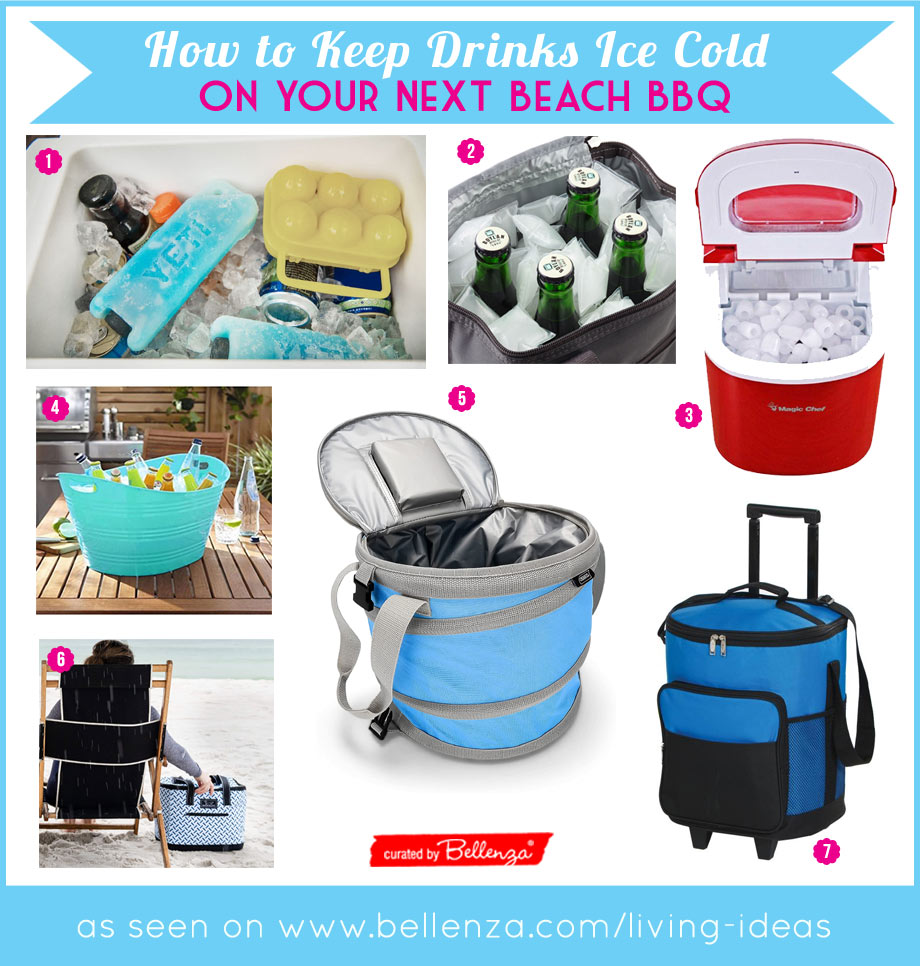 How to transport cold drinks on your next beach BBQ
