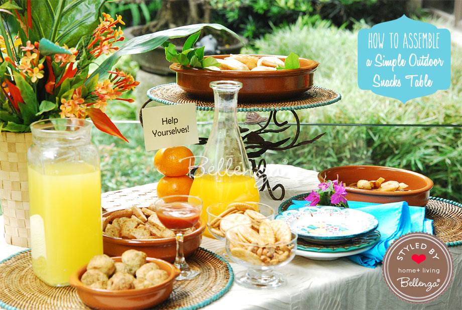 Snacks and drinks for summer buffet able