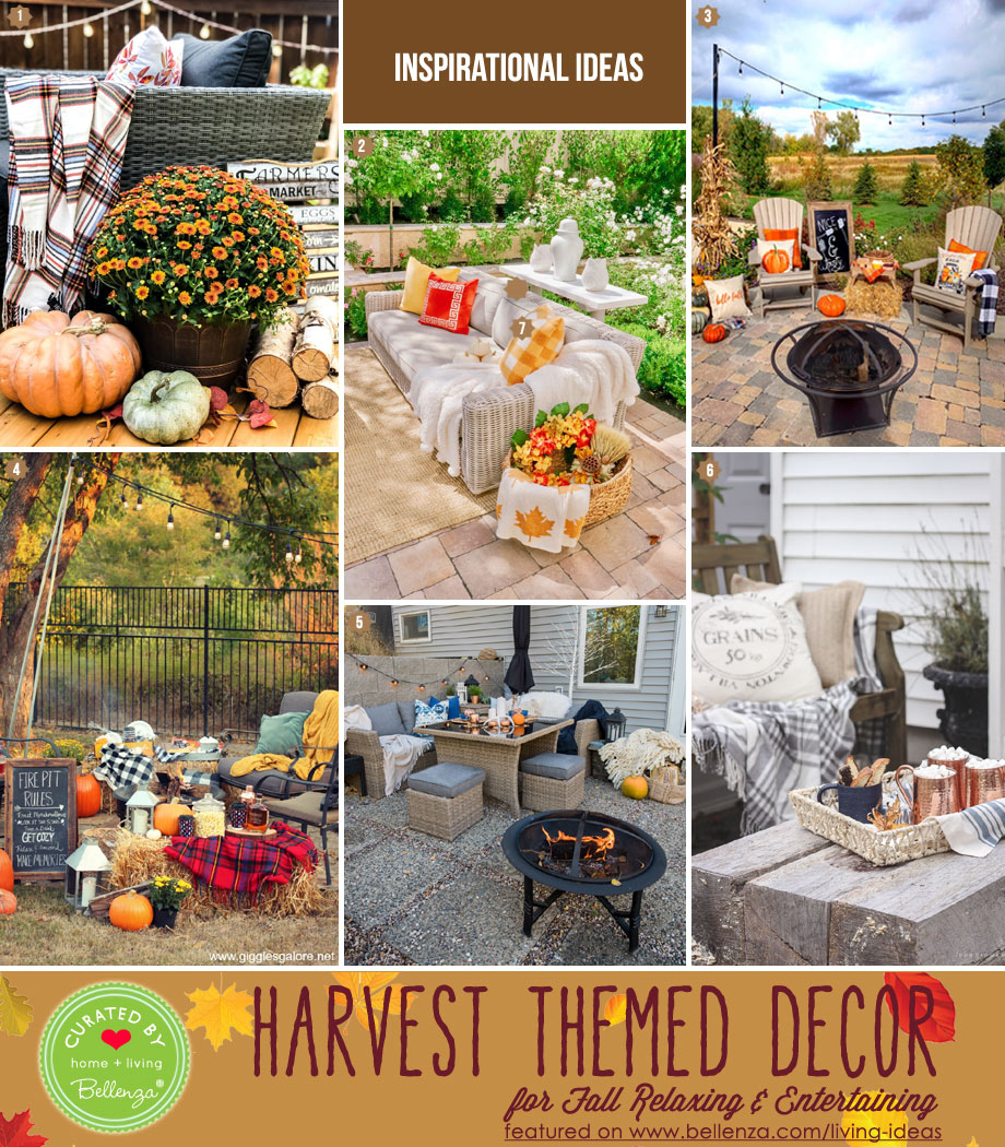 Backyard harvest-inspired patio decor and furniture