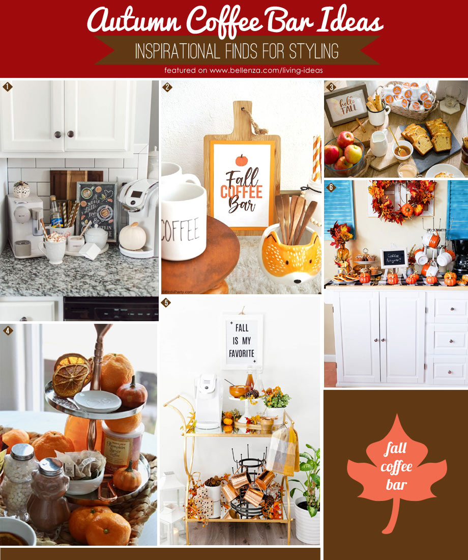 Autumn coffee bar styling and product finds that are easy.