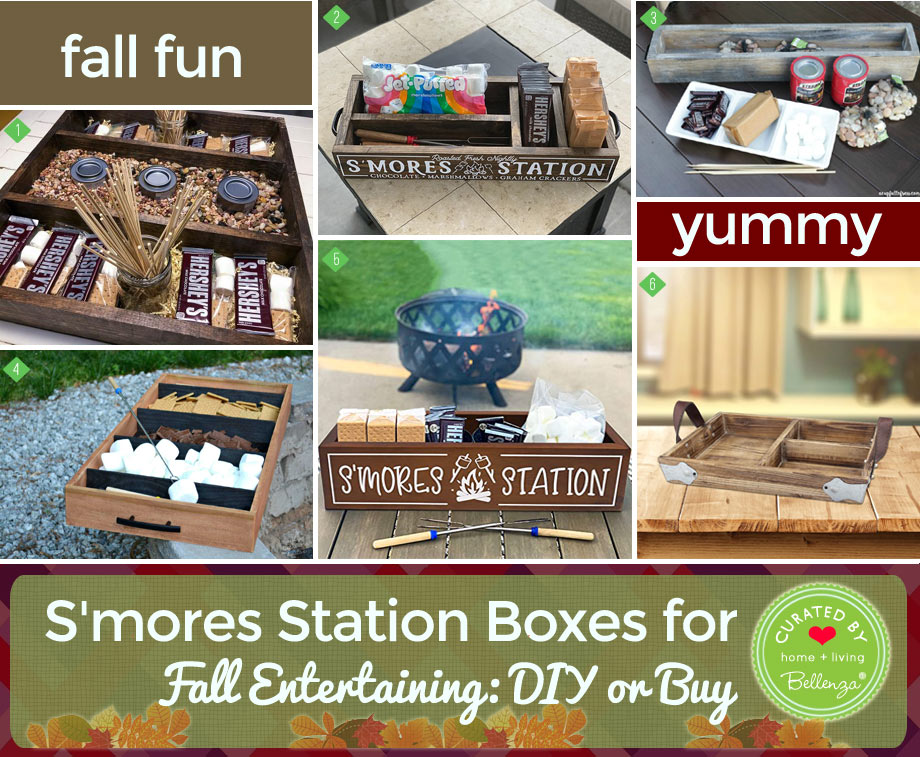 S'mores station box for fall home entertaining