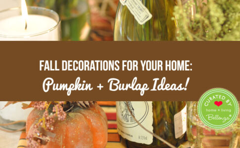 Burlap and pumpkin home decor