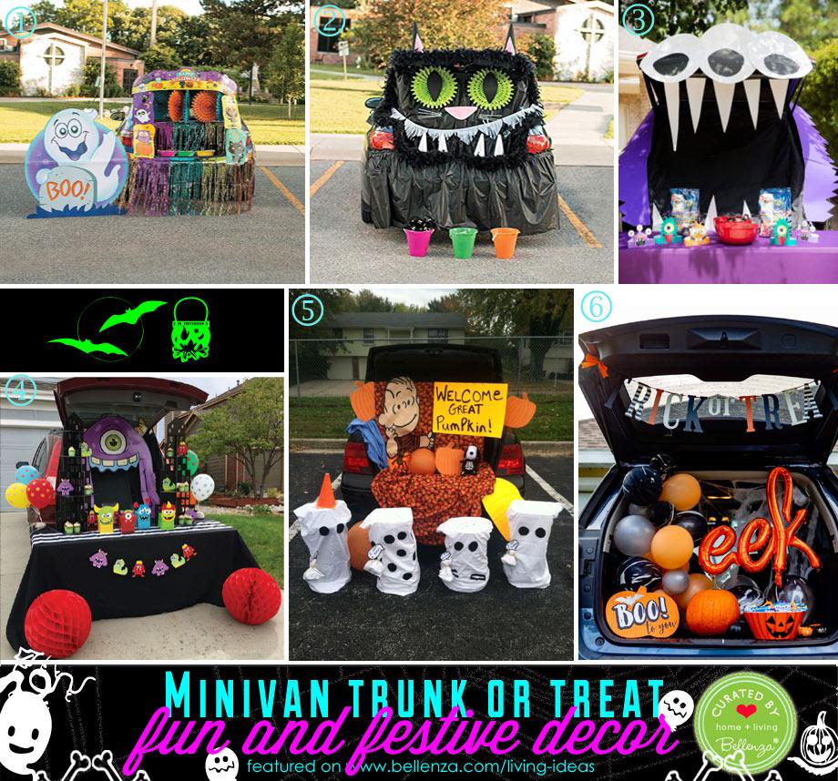 Minivan trunk or treat for Halloween