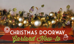 DIY Christmas garland for doorway // Bellenza.