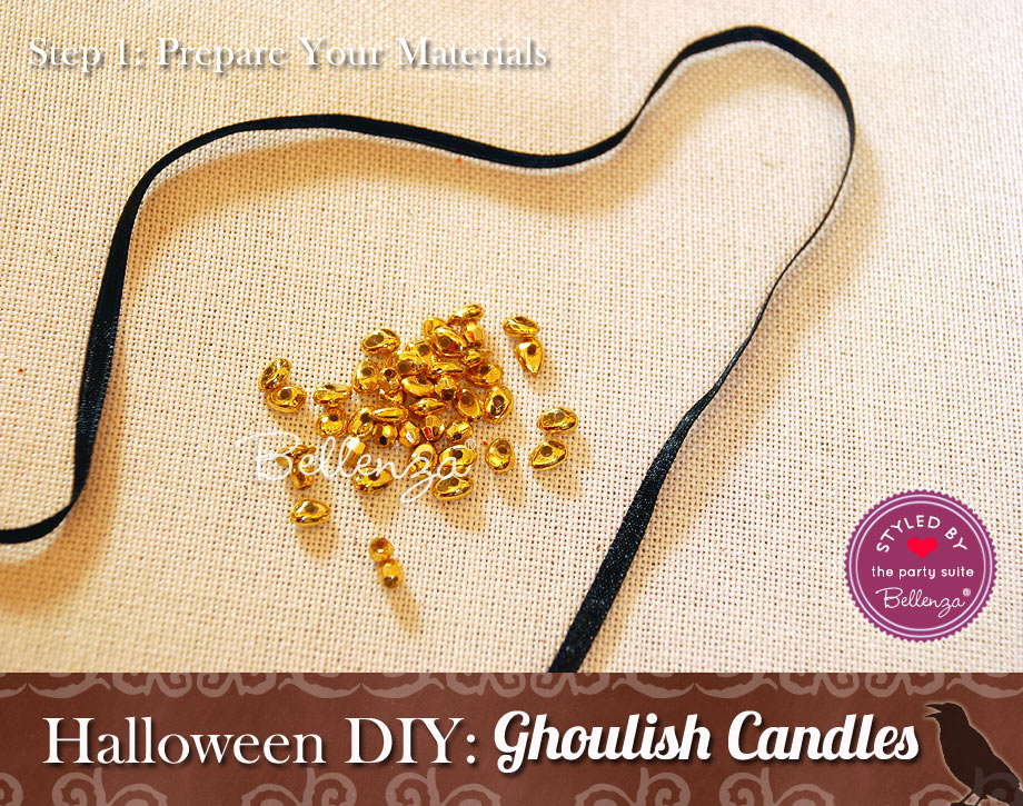 Halloween Candle Project for Favors