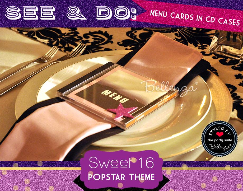 Glittery Menu Card DIY with CD Case