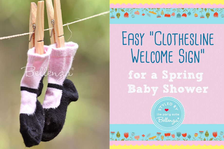 Baby booties for a DIY Spring Baby Shower Welcome Sign   The Party Suite at Bellenza