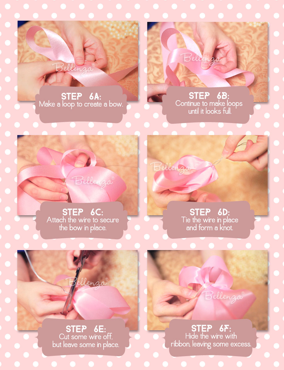 Steps for decorating a sweet 16th celebrant's chair with bows.