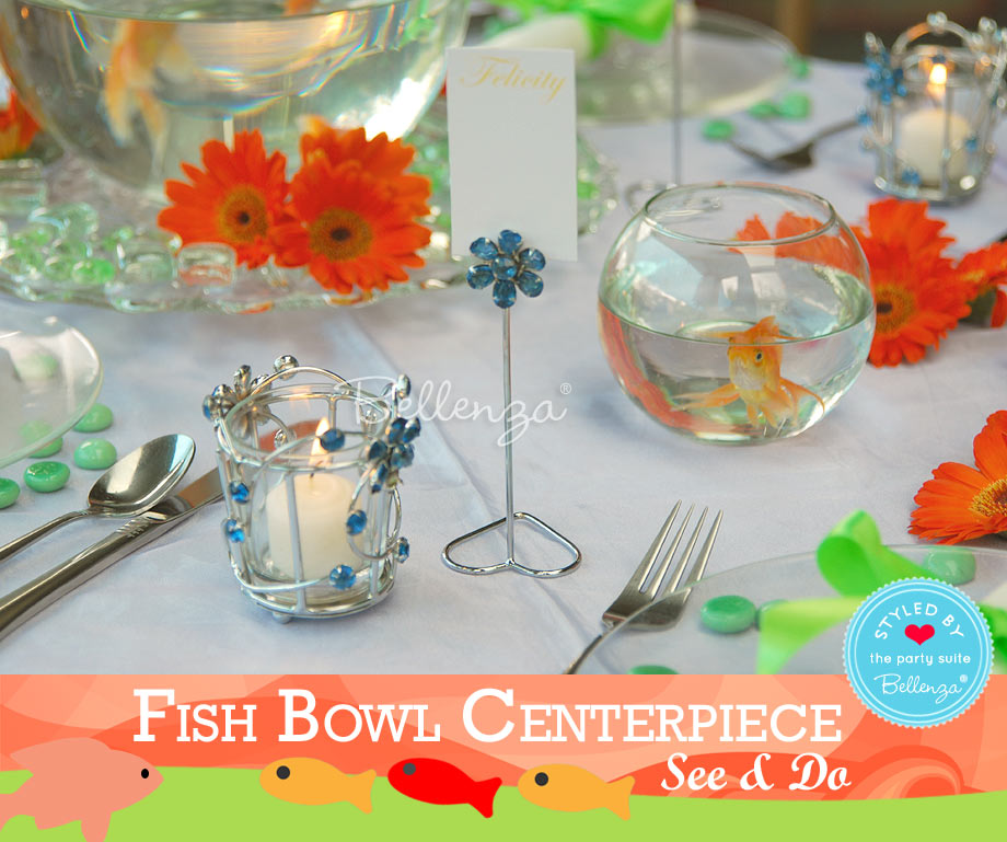 Add more decorative accents like blue votive holders and escort card holders.