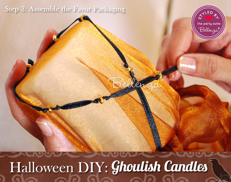 Halloween candle favor packaging