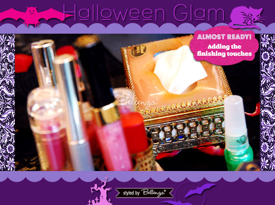 More Makeup Supplies. A Halloween Glam Makeover Party Styled Shoot by Bellenza.