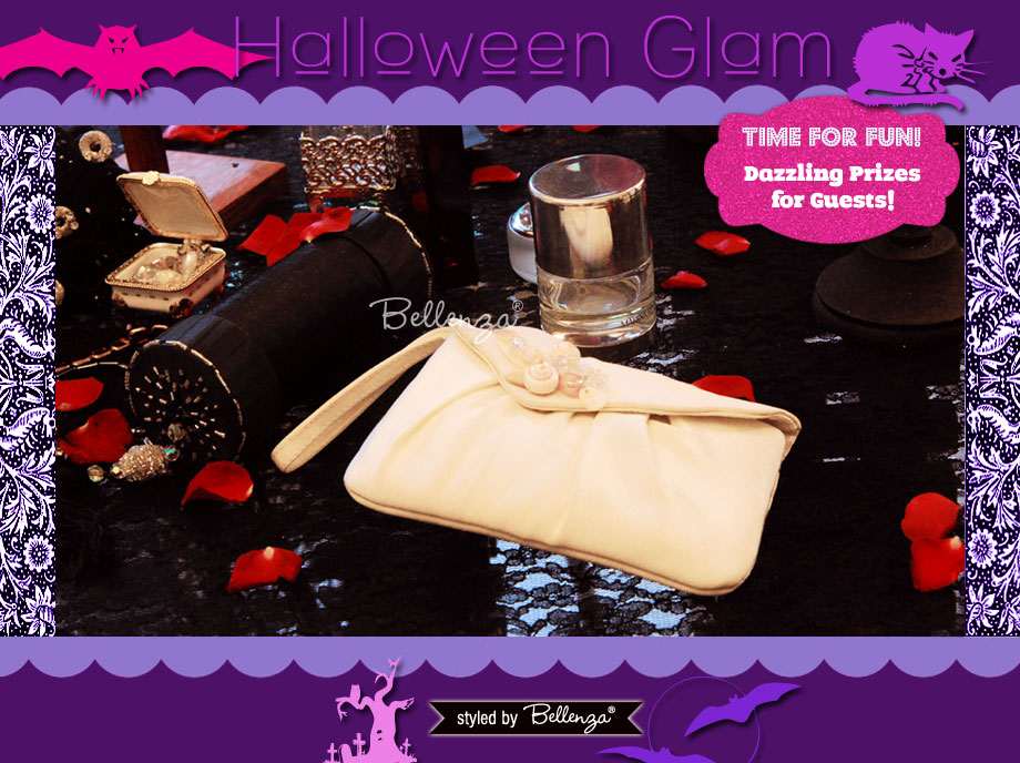 Give out Dazzling Prizes for a Beauty Contest at Halloween. A Halloween Glam Makeover Party Styled Shoot by Bellenza.