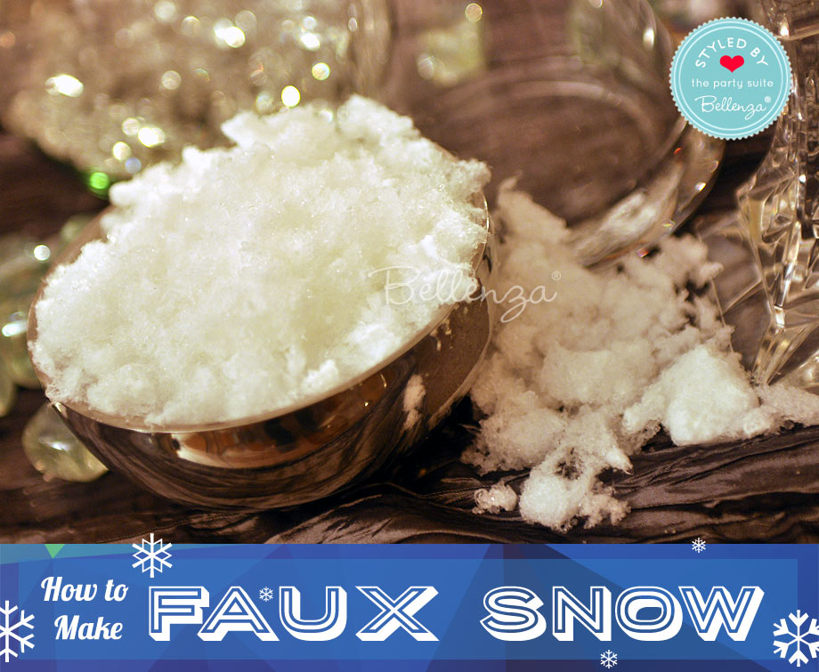Faux Snow Using Diapers Tutorial // Bellenza.