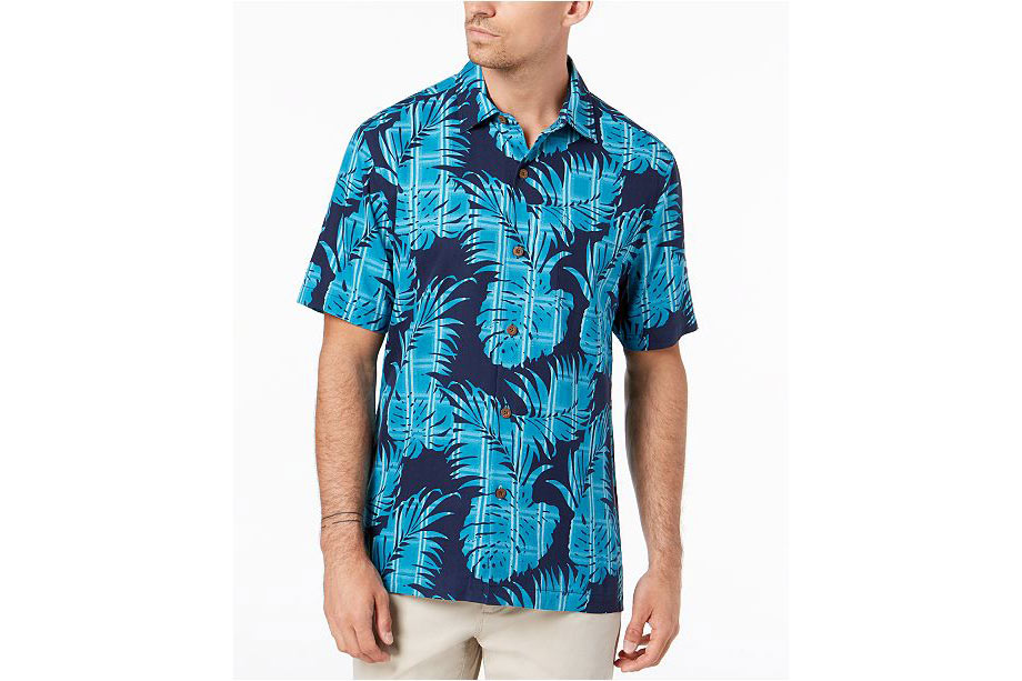 Tommy Bahama Men's Palm Del Plaid Silk Shirt - via Macy's