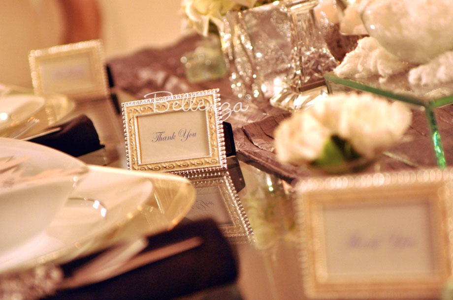 Art deco inspired favor frames