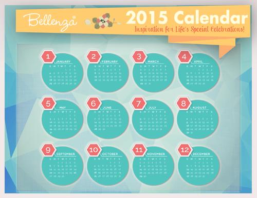 2015 Bellenza printable calendar