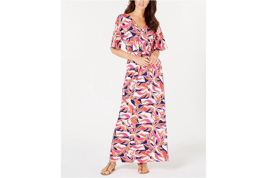 5 - Pappagallo Lani Printed Maxi Dress - via Macy's