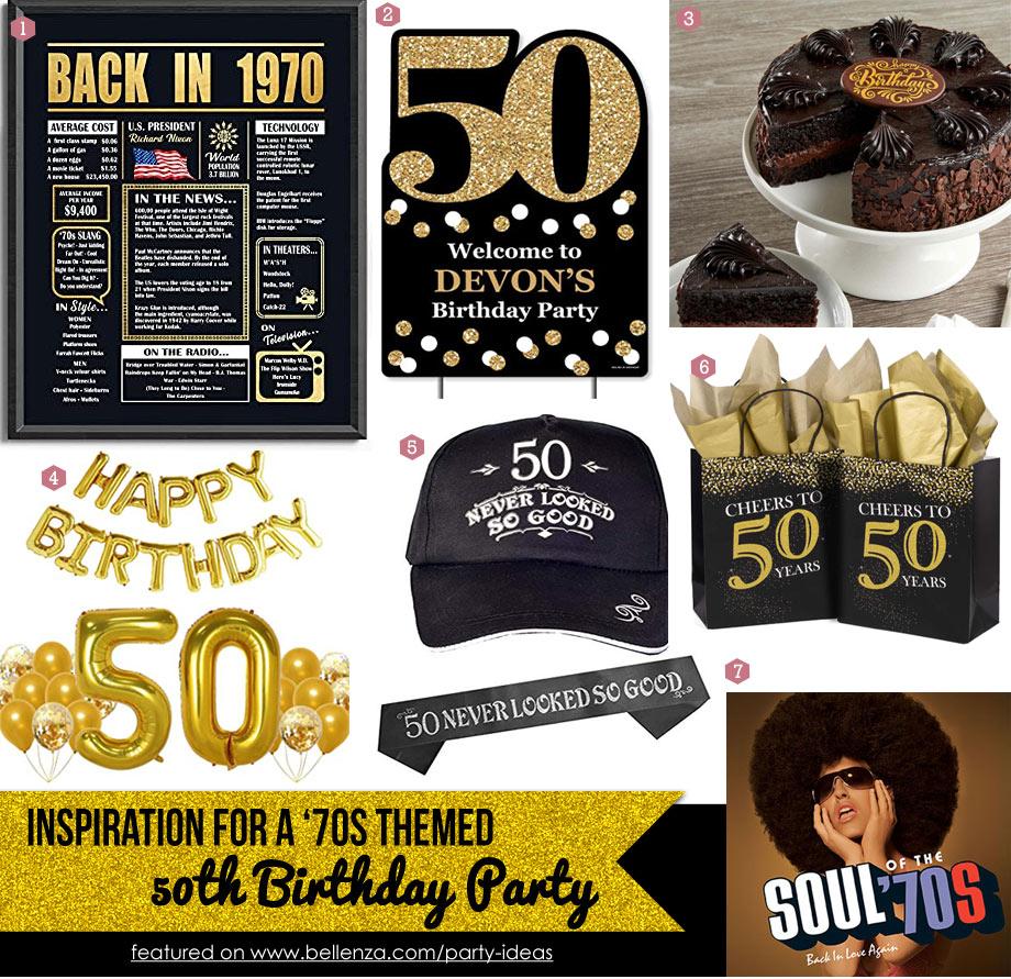 50th virtual birthday with 70s theme