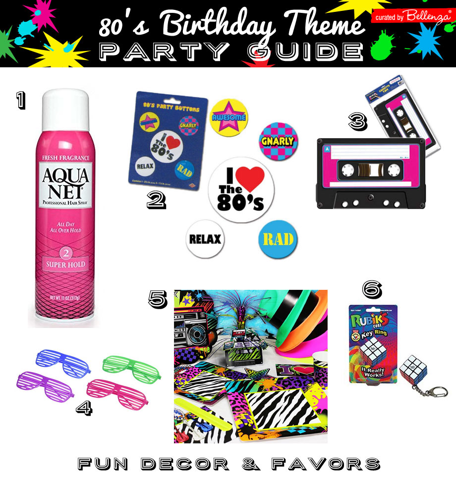 80s party theme favors and decorations