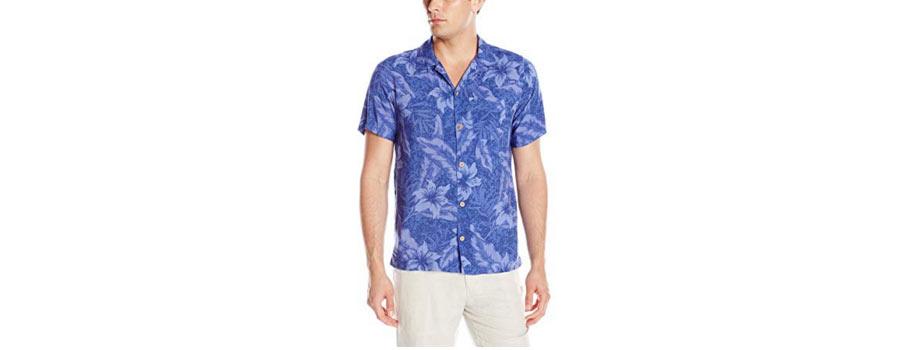 9 - Caribbean Joe Men's Slim Fit Short Sleeve Button Up Tonal Rayon Hawaiian Shirt - via Amazon