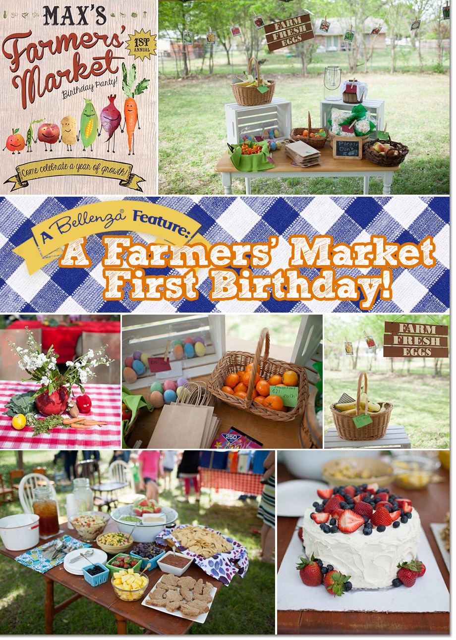 Decor and Food for a Farmer's Market Themed Birthday Party