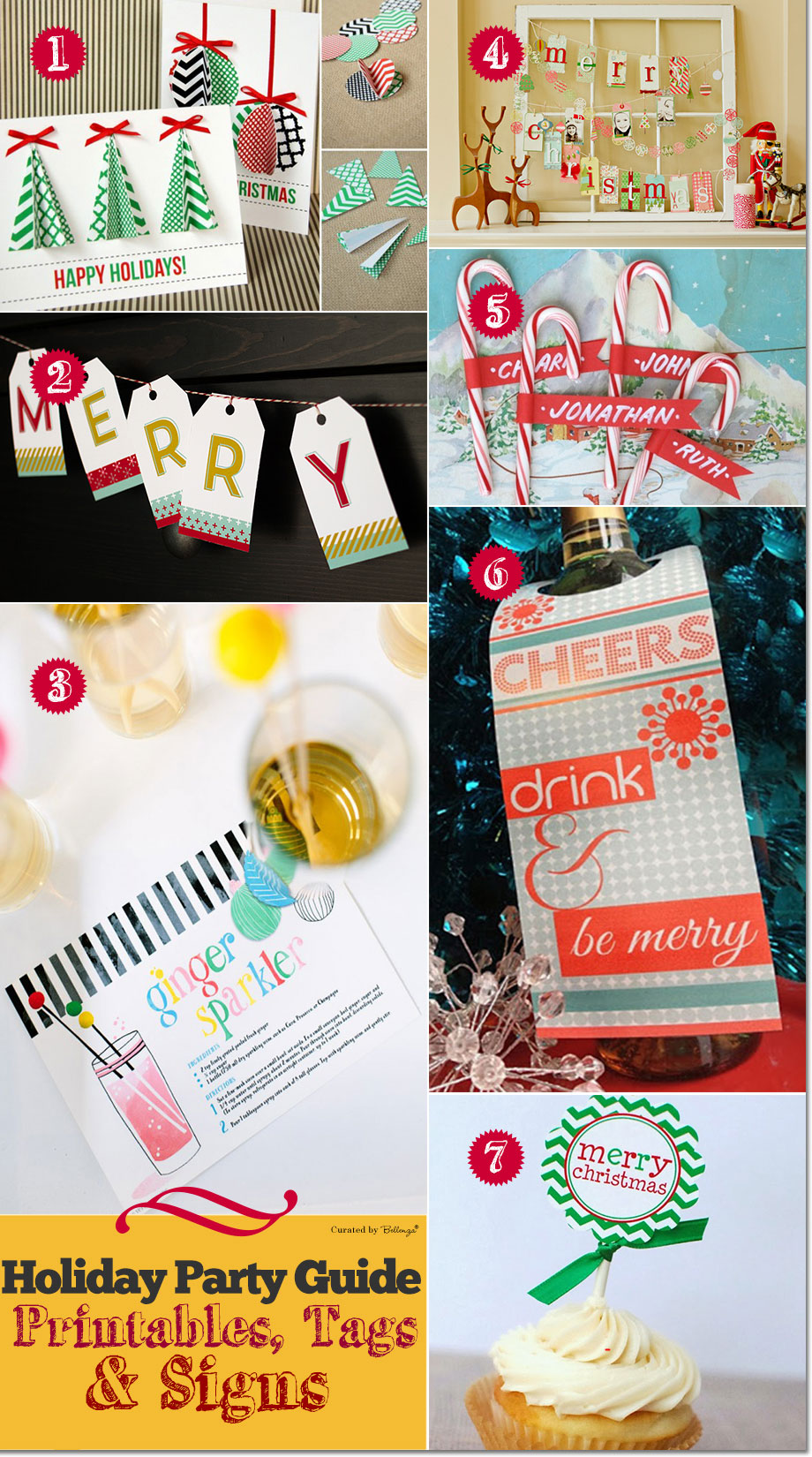 Holiday printables and tags for gifts, invites, and signs