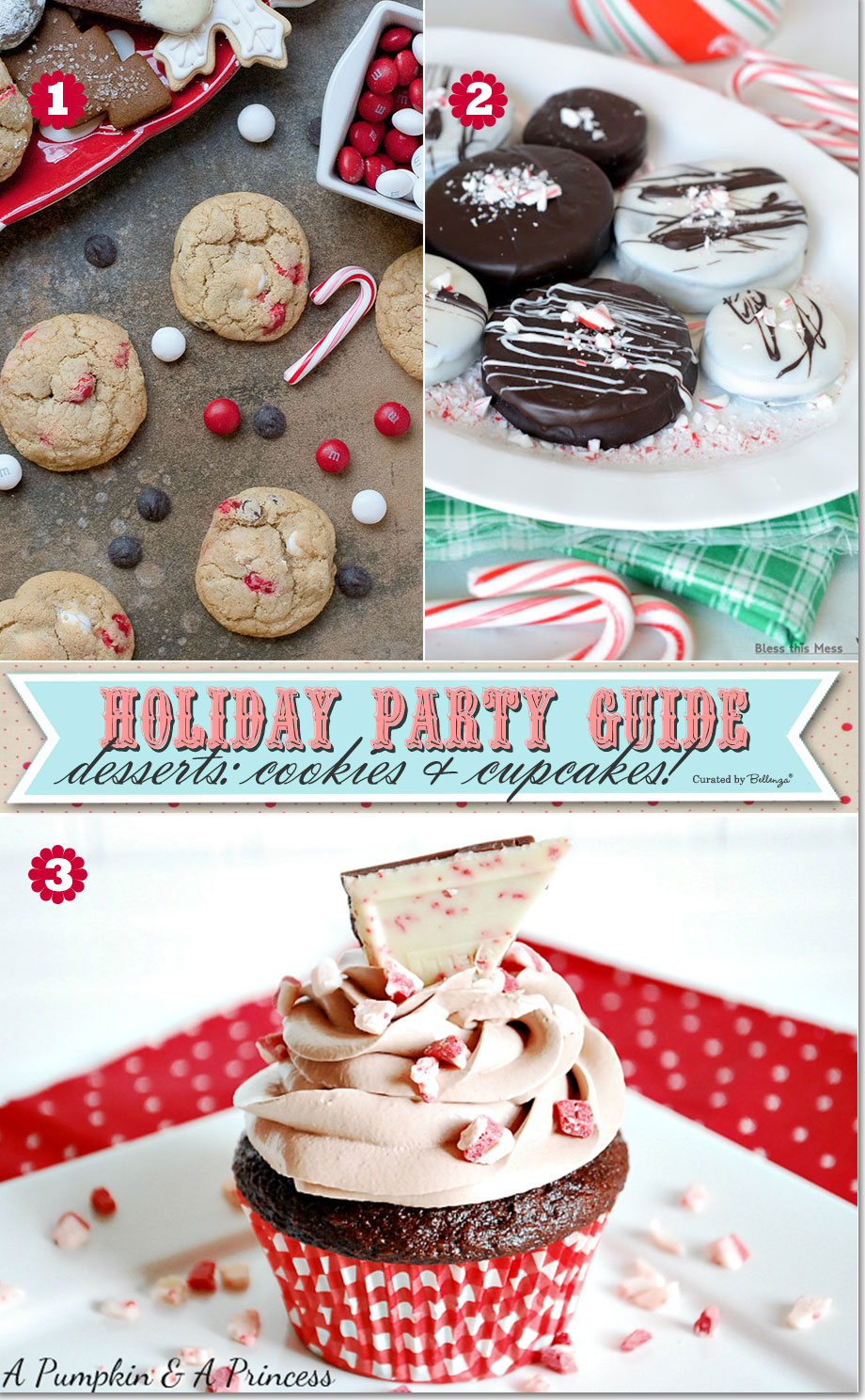 Holiday cupcakes and cookies