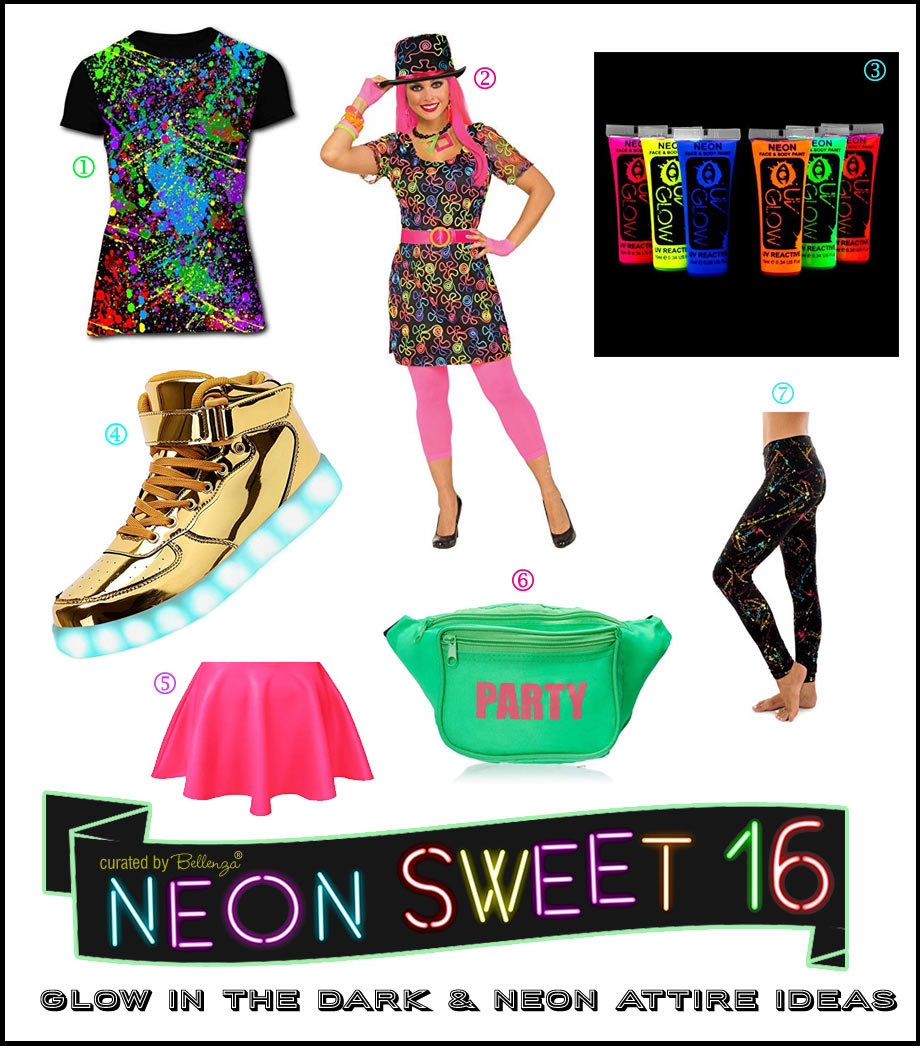 Glow in the Dark and Neon Attire Ideas with 80s Flair